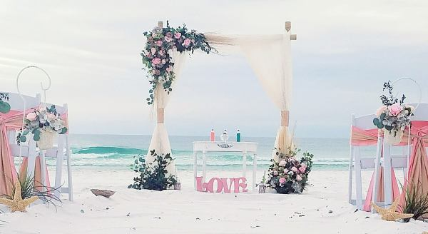 destin florida, beach weddings, packages