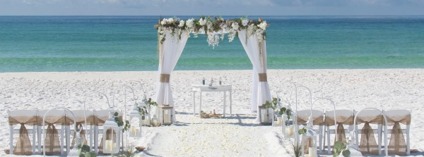 barefoot weddings, emerald coast, white sand, beach wedding