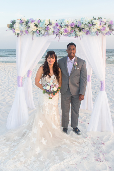 barefoot wedding, destin florida