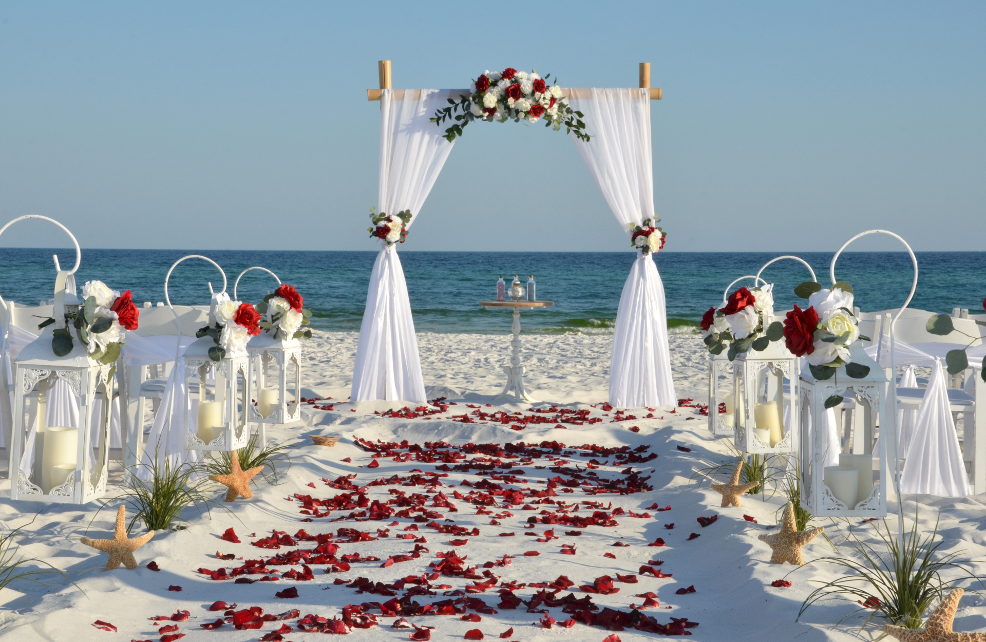 affordable, destin, beach weddings, barefoot