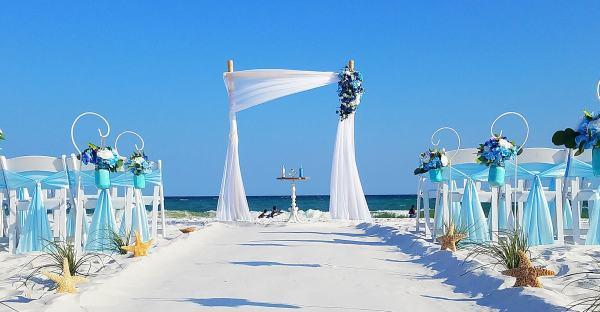 Destin Florida Barefoot Beach Wedding